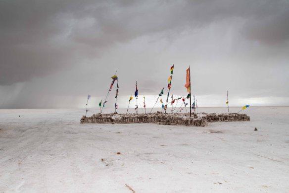 Flags, Salar de Uyuni, Bolivia
