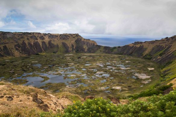 Crater, Easter Island