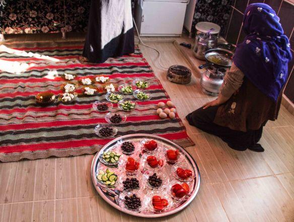 Breakfast with Ayten, Gollu Village, Sanliurfa, Turkey